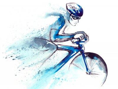 Adesivo ciclista