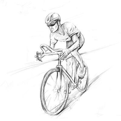 Adesivo ciclista da corsa