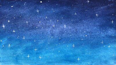 Adesivo Cielo stellato blu in acquerello