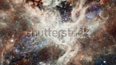 Adesivo Cielo stellato di notte della nebulosa a colori. Spazio esterno multicolore. Spazio profondo a molti anni luce dal pianeta Terra. Elementi di questa immagine forniti dalla NASA