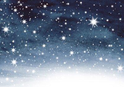 Adesivo Cielo stellato sull'acquerello