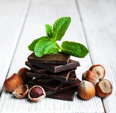 Adesivo cioccolato con le noci