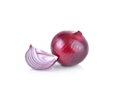 Adesivo Cipolla rossa su sfondo bianco