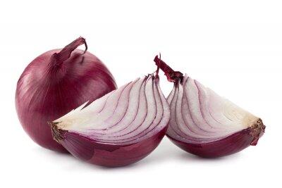 Adesivo Cipolla viola su bianco