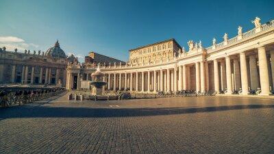 Adesivo Città del Vaticano e Roma, Italia: Piazza San Pietro