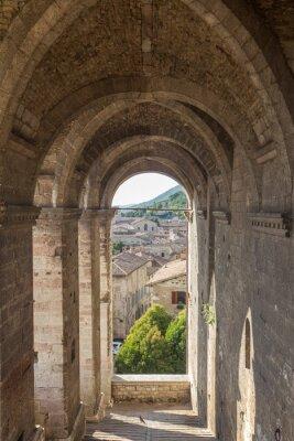 Adesivo Cityscape of Gubbio near Perugia (Italy)