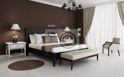 Camera Da Letto Con Divano : Classic marrone camera da letto di lusso con lampadario e