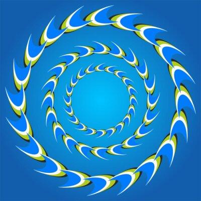 Adesivo code illusione ottica cerchio