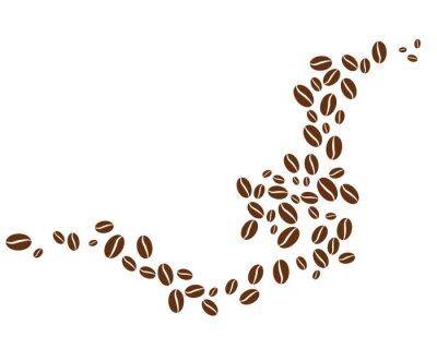 Adesivo coffee bean icon vector