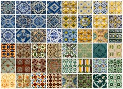 Adesivo Collage di diverse porzioni di pattern colorati in Portogallo