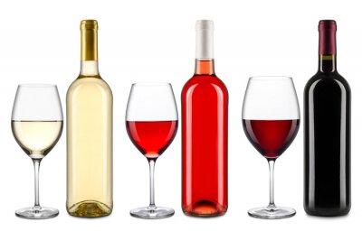 Adesivo collezione di vini