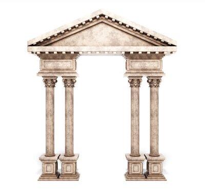 Adesivo Colonna Classic Corinthian Arch.