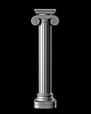 Adesivo Colonna classica su sfondo nero