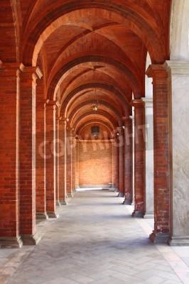 Adesivo Colonnato in un chiostro stile romanico