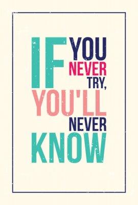 Adesivo colorato motivazione ispirazione poster. Grunge stile
