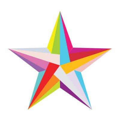 Adesivo colorato stella