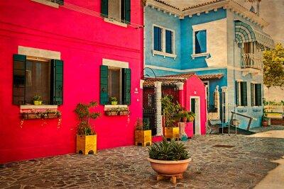Adesivo Colorful condominio a Burano, Italia 1