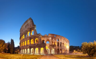 Adesivo Colosseo di notte .Rome - Italia