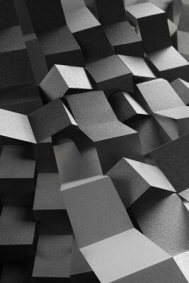 Adesivo Composizione astratta di strisce di carta, sfondo geometrico