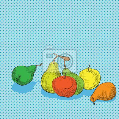 Adesivo composizione di frutta
