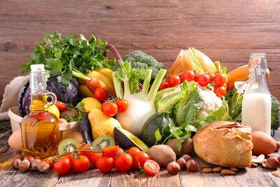 Adesivo concetto di dieta alimentare equilibrata