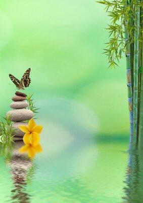 Adesivo concetto di natura distensione, bien-être, relax