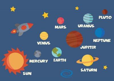 Adesivo concetto di sistema solare