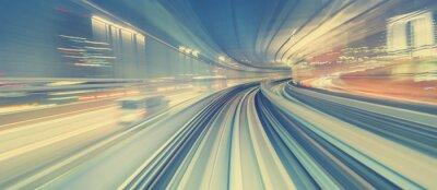 Adesivo concetto di tecnologia ad alta velocità tramite una monorotaia Tokyo