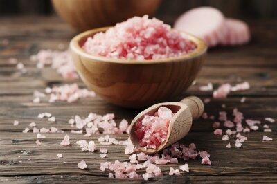 Adesivo Concetto di trattamento termale con sale rosa
