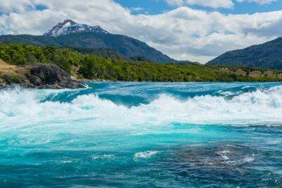 Adesivo Confluenza del fiume Baker e il fiume Neff, Cile