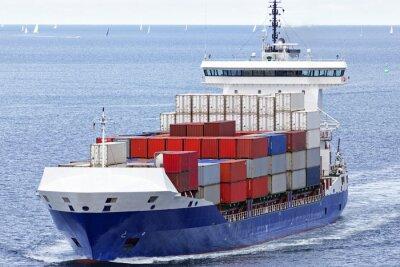 Adesivo Containerschiff auf der Ostsee bei Kiel