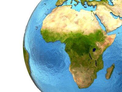 Adesivo continente africano sulla Terra