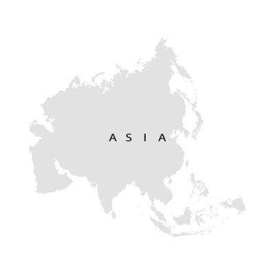 Adesivo continente Asia