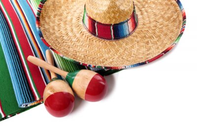 Adesivo Coperta messicano e sombrero
