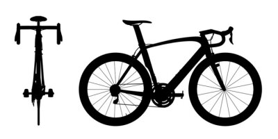 Adesivo Corsa Strada bici silhouette 2in1 A