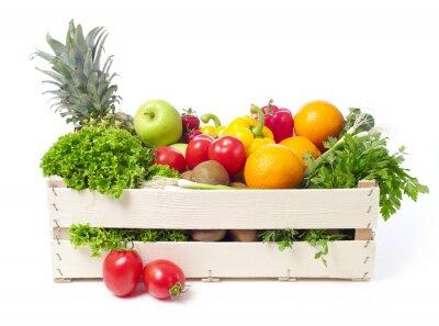 Adesivo Crate con frutta e verdura