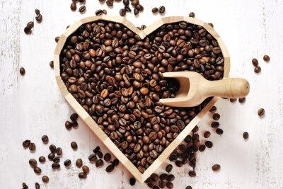 Adesivo cuore di chicchi di caffè