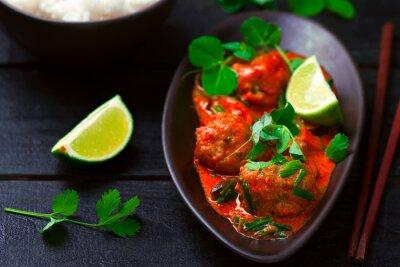 Adesivo Curry caldo tailandese con pesce