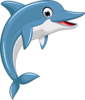 Adesivo cute cartoon delfino che salta