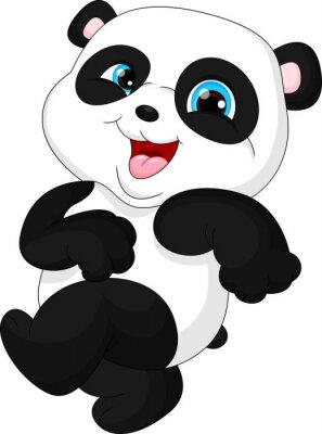 Adesivo Cute funny baby panda