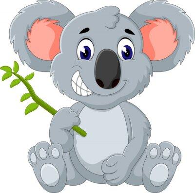 Adesivo Cute Koala cartone animato di illustrazione