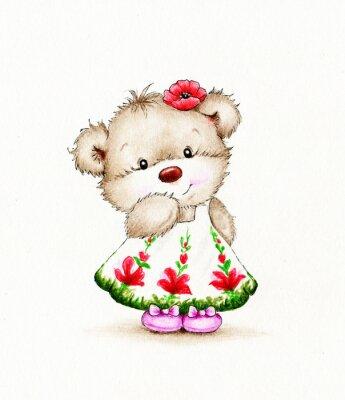 Adesivo Cute Teddy bear ragazza