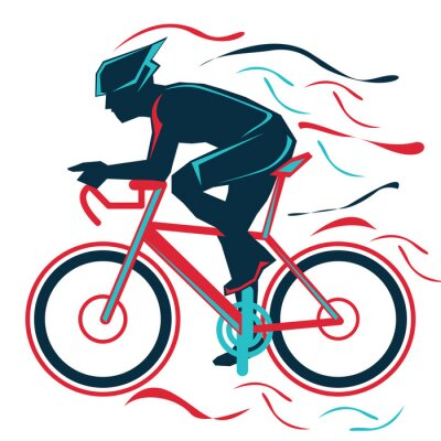 Adesivo cycling, bycicle, sports