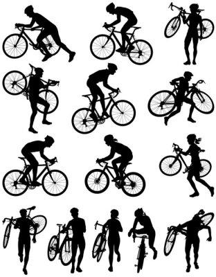 Adesivo Cyclocross racing vector silhouette