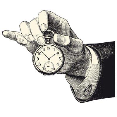 Adesivo D'Principale homme tenant une montre