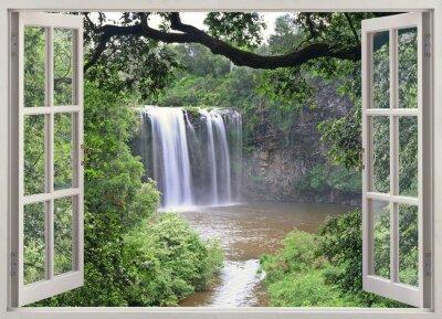 Adesivo Dangar Falls View in finestra aperta