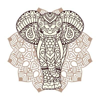 Adesivo Decorative elefante illustrazione