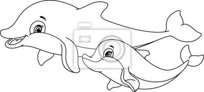Adesivo Delfini colorare