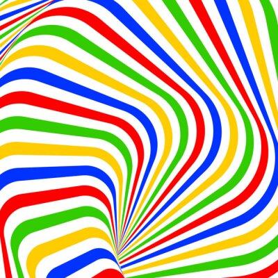 Adesivo Design colorato vortice di movimento illusione di fondo