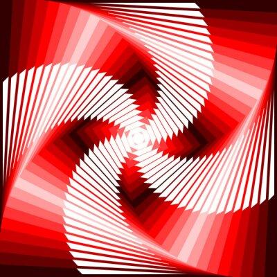 Adesivo Design colorato vortice di movimento illusione tetragon indietro geometrica